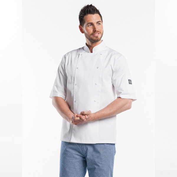 Basic Cooking Jacket Half Sleeve Hilton Poco White Chaud Devant®