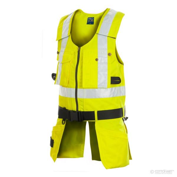 Warnschutz Sicherheitsweste mit Gürtel EN ISO 20471 Klasse 2 ProJob®