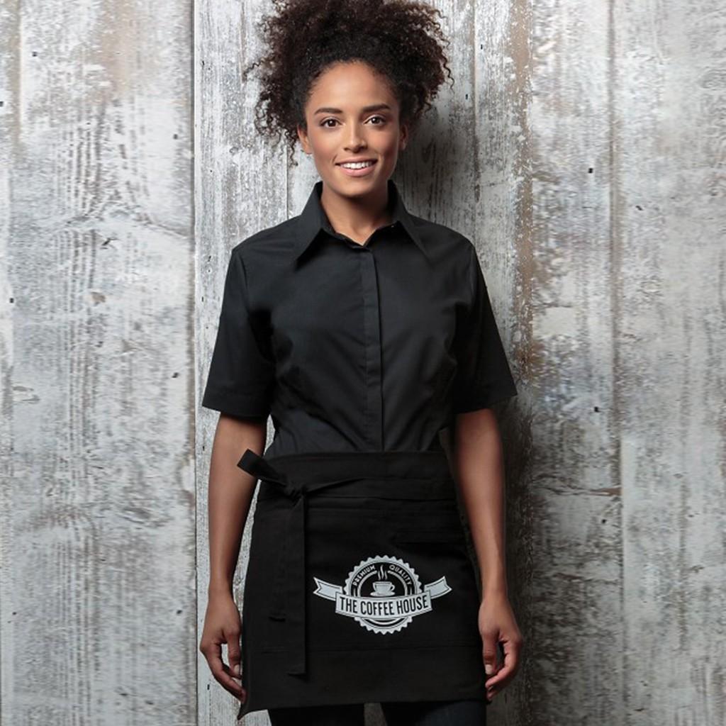 Stretchbluse Kurzarm Tailored Fit Bargear®   bedrucken, besticken, bedrucken lassen, besticken lassen, mit Logo  