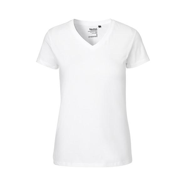 Organic Fairtrade Ladies V-neck T-Shirt Neutral®