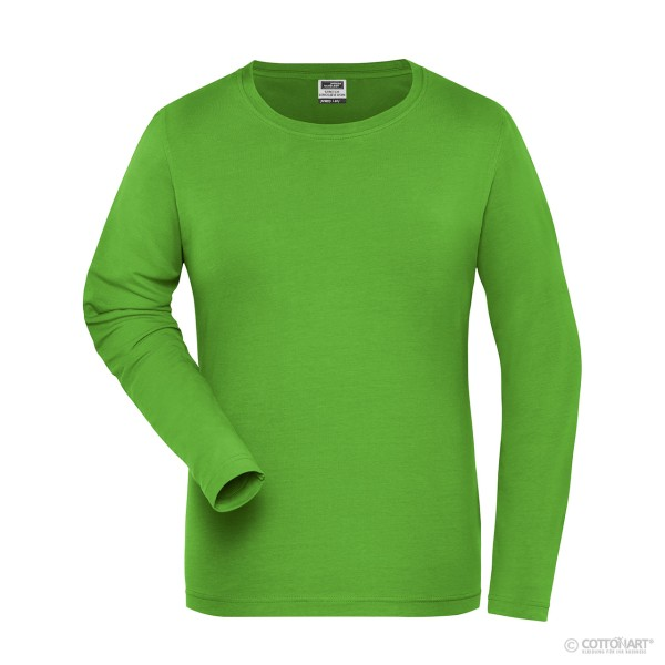 Women's Stretch T-Shirt Long Sleeve Organic Cotton James & Nicholson®.