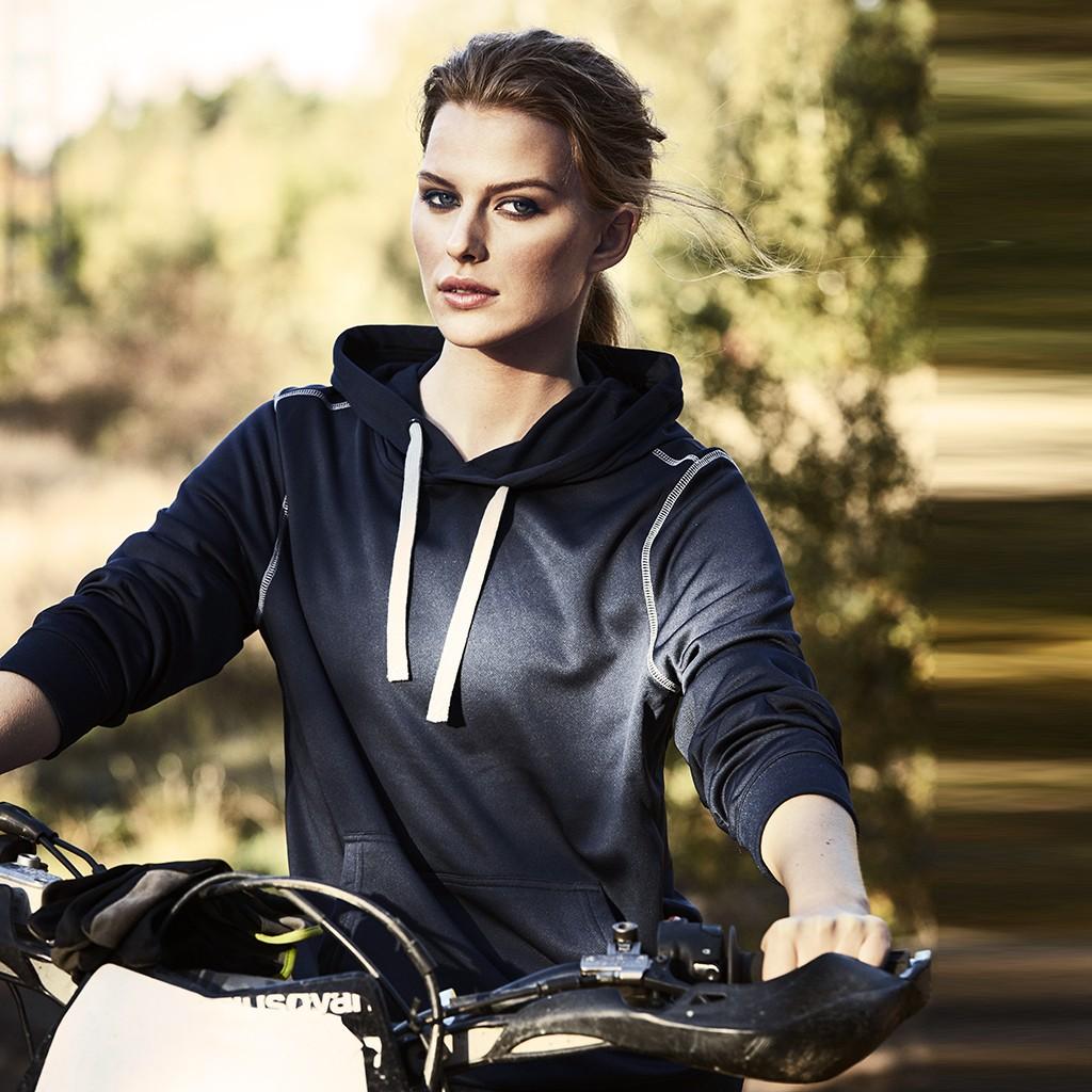 Funktions Sweatshirt mit Kapuze Pentathlon Printer® | bedrucken, besticken, bedrucken lassen, besticken lassen, mit Logo |