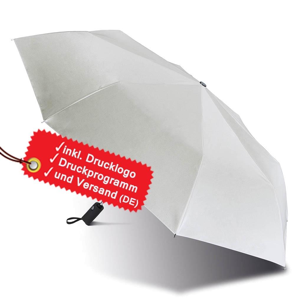 Automatischer Mini Regenschirm bedruicken lassen inkl. Logo KiMood® | bedrucken, besticken, bedrucken lassen, besticken lassen, mit Logo |
