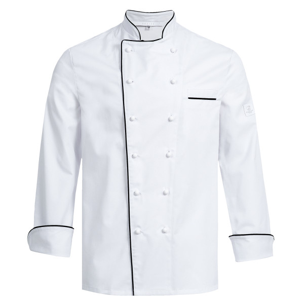 RF Cuisine Premium chef's jacket with Greiff® piping