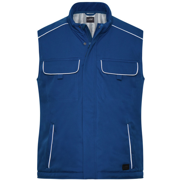 Workwear soft shell vest with inner lining James & Nicholson®.