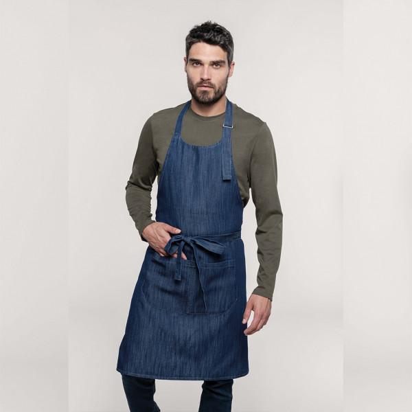Jeans sommelier apron mixed fabric Denim Kariban®