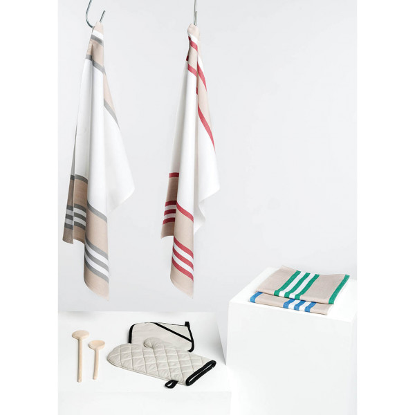 Dishtowel, striped 5 pack