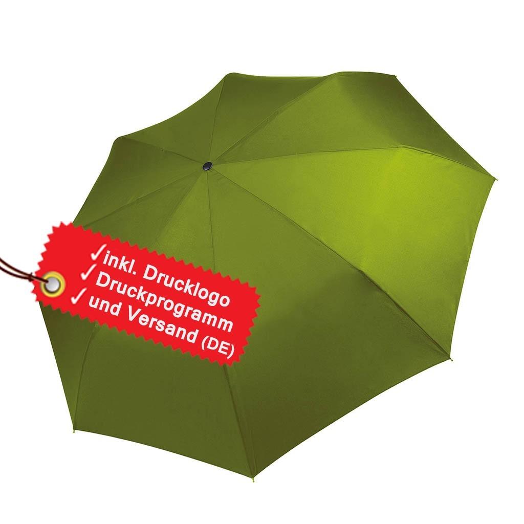 Mini Regenschirm bedrucken lassen inkl. Logo KiMood® | bedrucken, besticken, bedrucken lassen, besticken lassen, mit Logo |