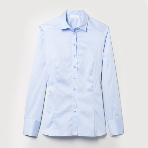 Langarm Bluse Slim Fit Satinbindung Eterna®
