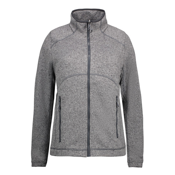 Ladies' Zip'n'Mix fleece jacket Melange ID Identity®