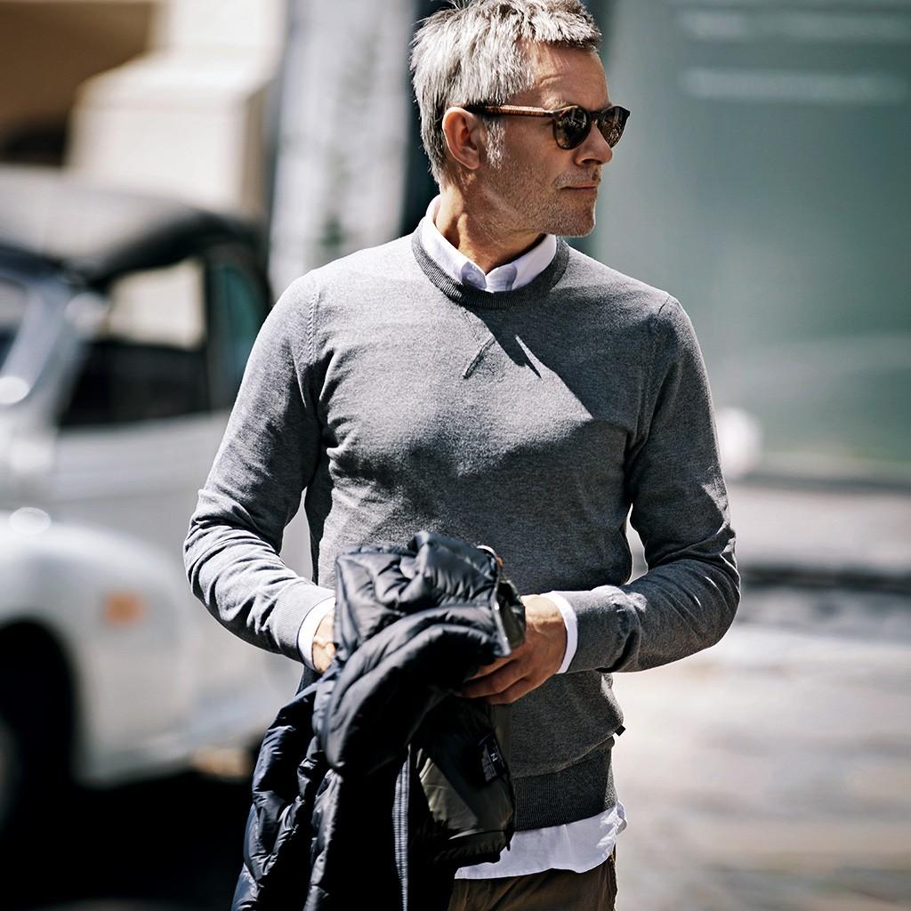 Herren Pullover Lowell Nimbus® | bedrucken, besticken, bedrucken lassen, besticken lassen, mit Logo |