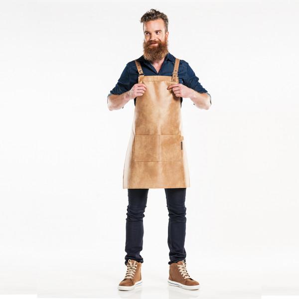 Leather bib apron Fusion Chaud Devant®