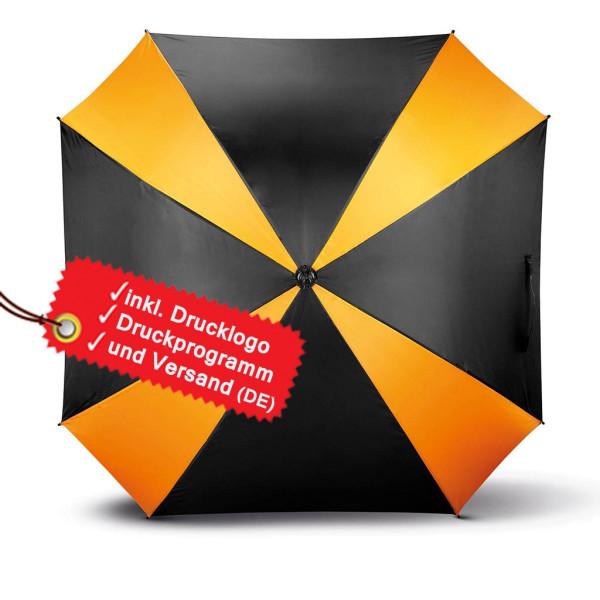 Square umbrella can be printed incl. KiMood® logo