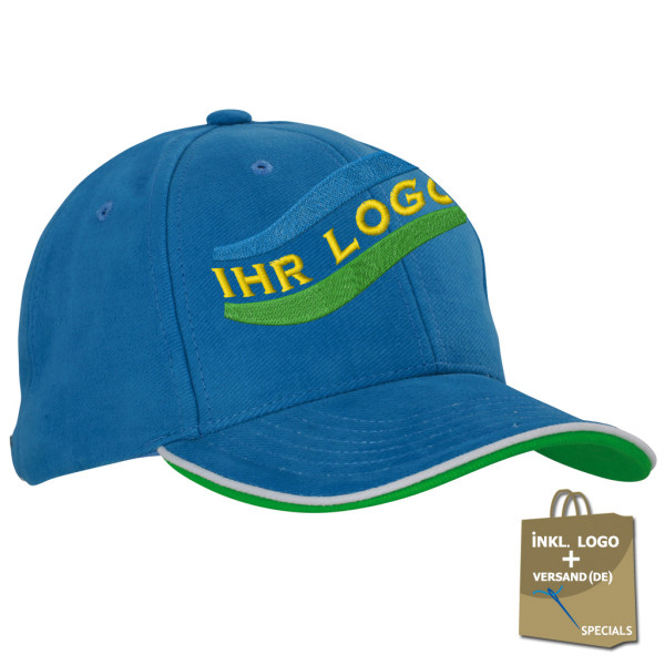 Double Sandwich Cap embroidery incl. logo embroidery