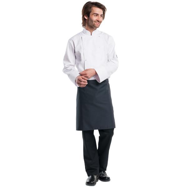 Bistroschürze Regular ohne Tasche W100-L50 Chaud Devant® Farbvariante Antra günstig mit Ihrerm Logo besticken lassen