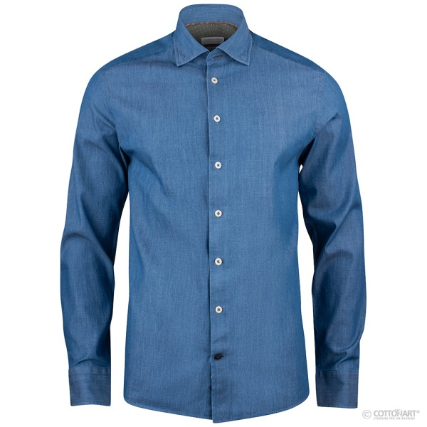 Lightweight denim shirt Indigo Bow 130 SF J. Harvest & Frost®
