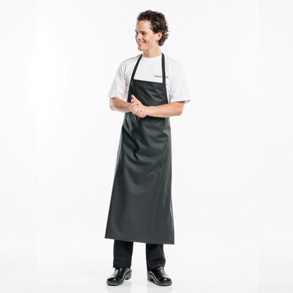 Spülschürze abwaschbar Chaud Devant® Farbvariante Black mit Firmenlogo besticken lassen