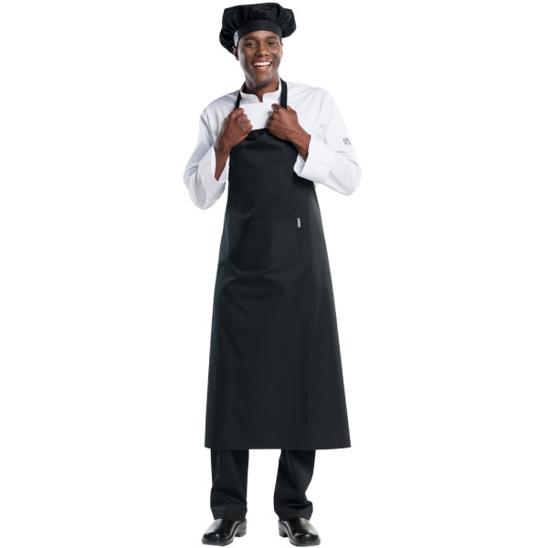 Latzschürze BBQ Chaud Devant® Farbvariante Black mit Logo besticken