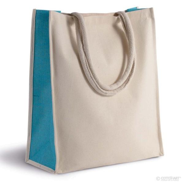Baumwoll-Jute-Shoppingtasche 23 L KiMood®