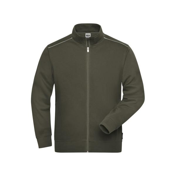 Herren Workwear Sweatjacke Materialmix James & Nicholson®