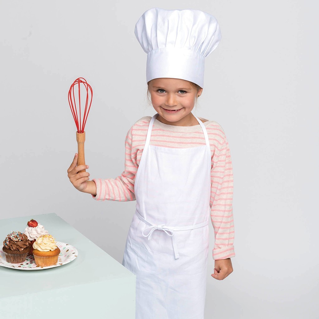 Kinderschürze & Kochmütze im Set Kariban® | bedrucken, besticken, bedrucken lassen, besticken lassen, mit Logo |