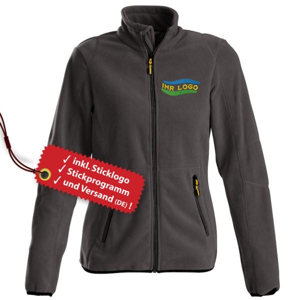 Ladies fleece jacket Speedway embroidered incl. logo