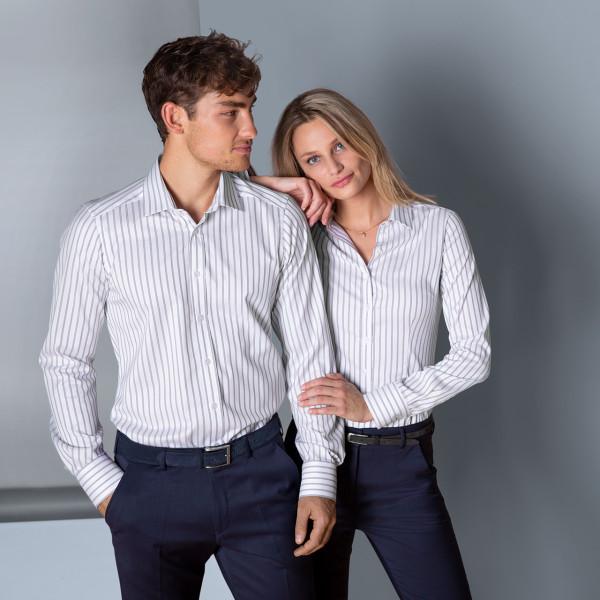 Stretch Bluse Slim Fit 37.5® Greiff®