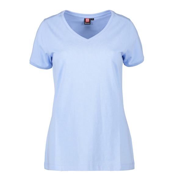 Women's Short Sleeve V-Collar Work T-Shirt CARE ID Identity®