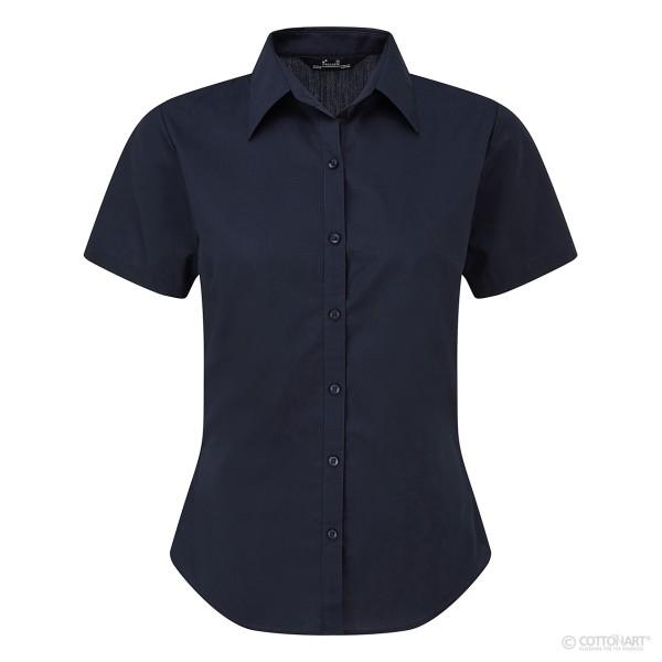 Damen Popeline Bluse Kurzarm Premier®