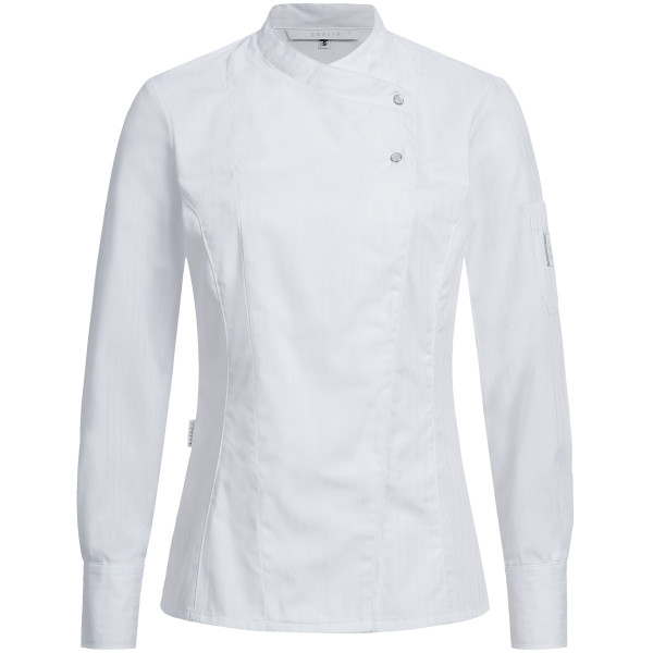 Ladies' chef's jacket with satin stripes RF Cuisine Premium Greiff®