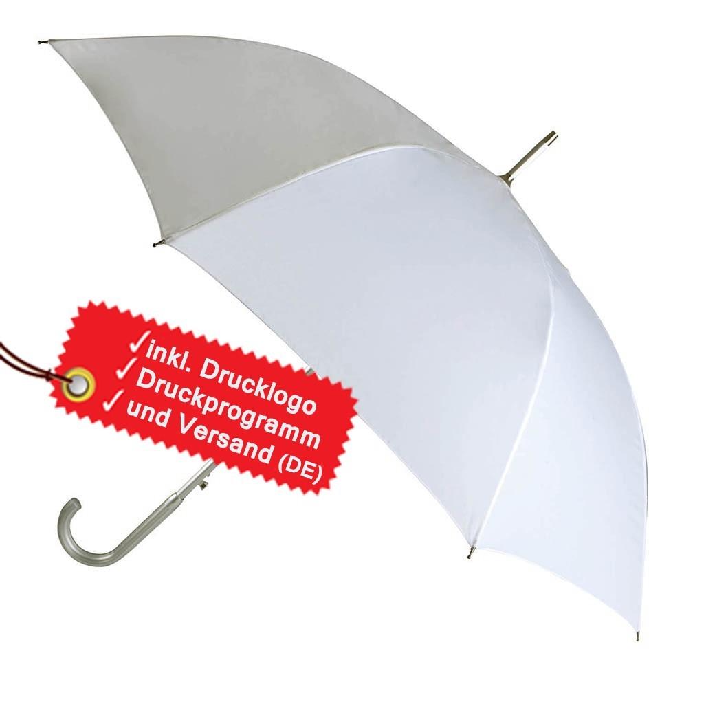Automatischer Regenschirm mit Aluminiumstock bedrucken lassen KiMood® | bedrucken, besticken, bedrucken lassen, besticken lassen, mit Logo |