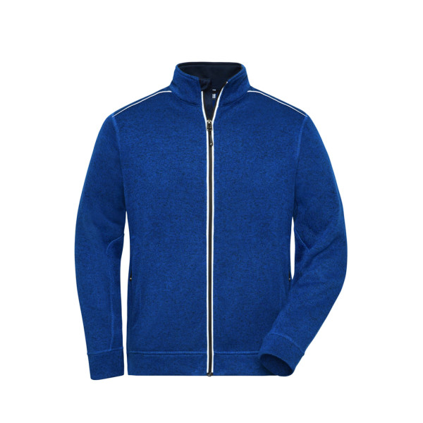 Herren Workwear Melange-Fleece James & Nicholson®