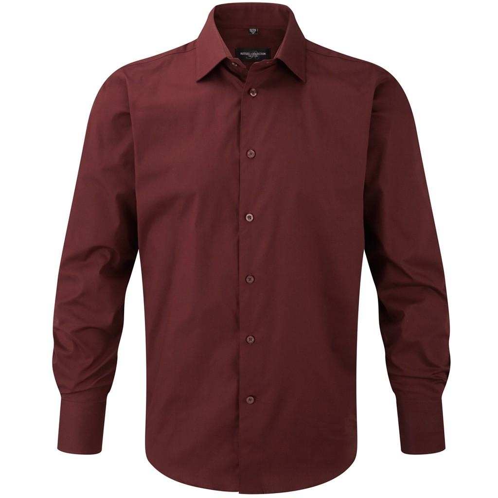 Hemd Langarm Stretch Slim Fit Russell® | bedrucken, besticken, bedrucken lassen, besticken lassen, mit Logo |