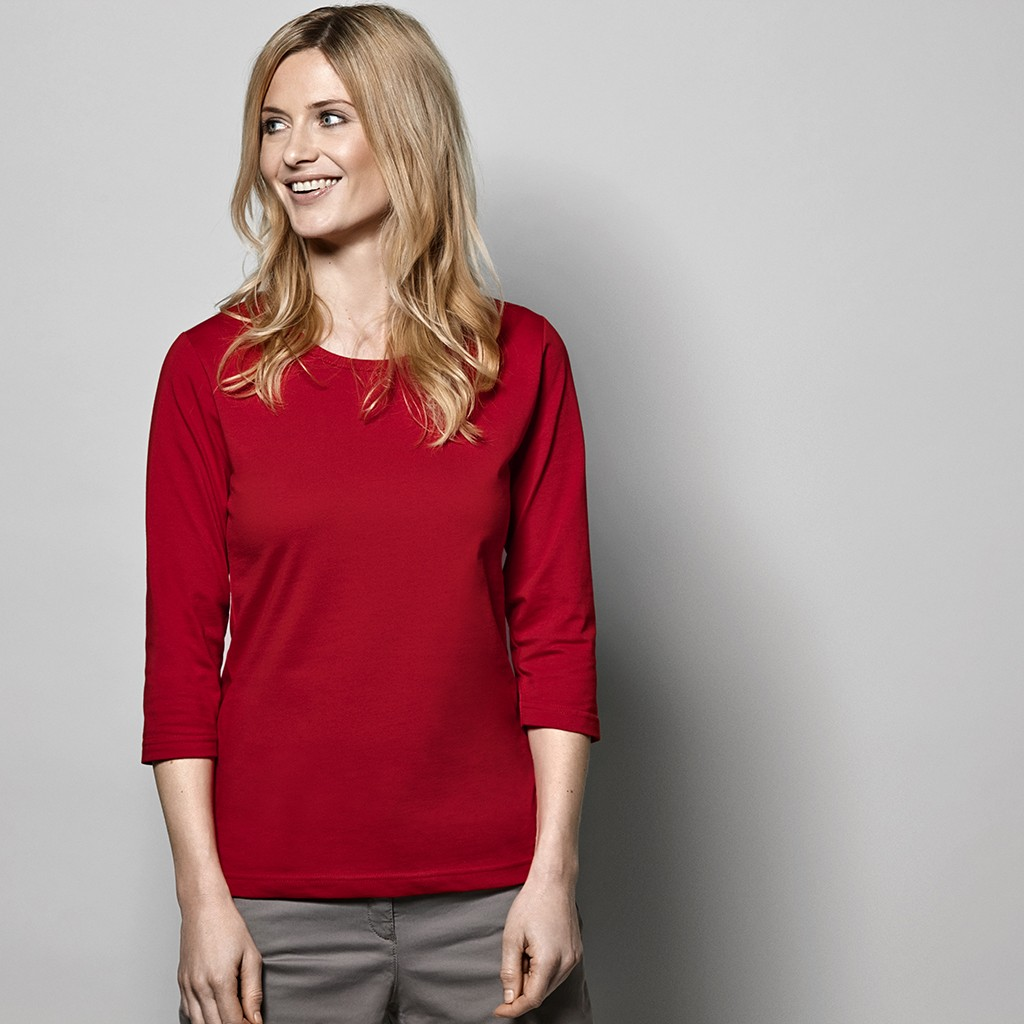 03f17e9e2ea11 Damen Arbeits T-Shirt 3/4 Arm ID Identity® | bedrucken, besticken