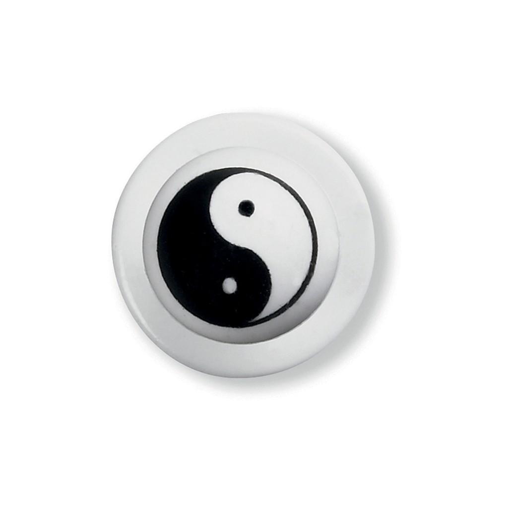 Kugelknöpfe Jing & Jang 12er Pack Greiff®   bedrucken, besticken, bedrucken lassen, besticken lassen, mit Logo  