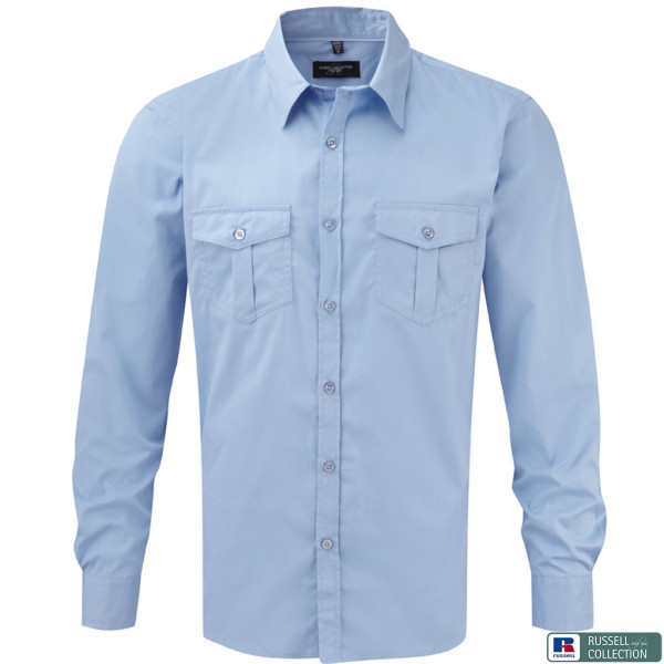 Twill shirt long sleeve fitted Russell®
