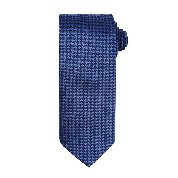 Krawatte mit kleinem Hahnentrittmuster Premier®