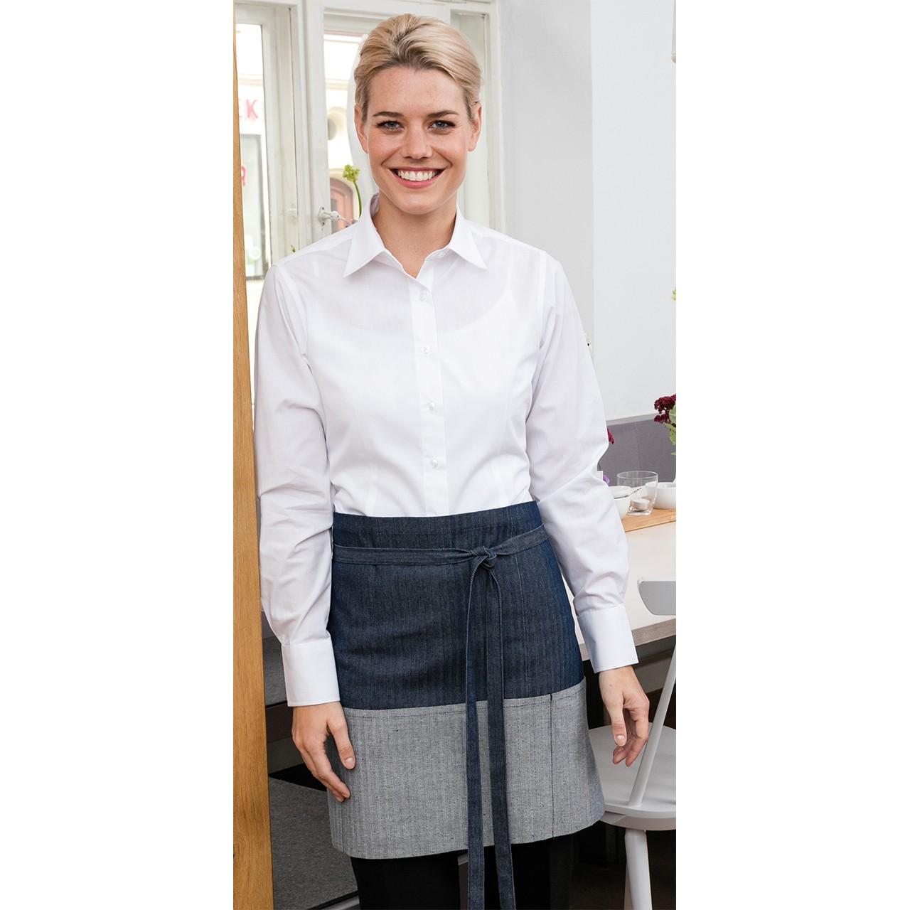 Denim Vorbinder im Jeanslook 2-farbig Exner® | bedrucken, besticken, bedrucken lassen, besticken lassen, mit Logo |