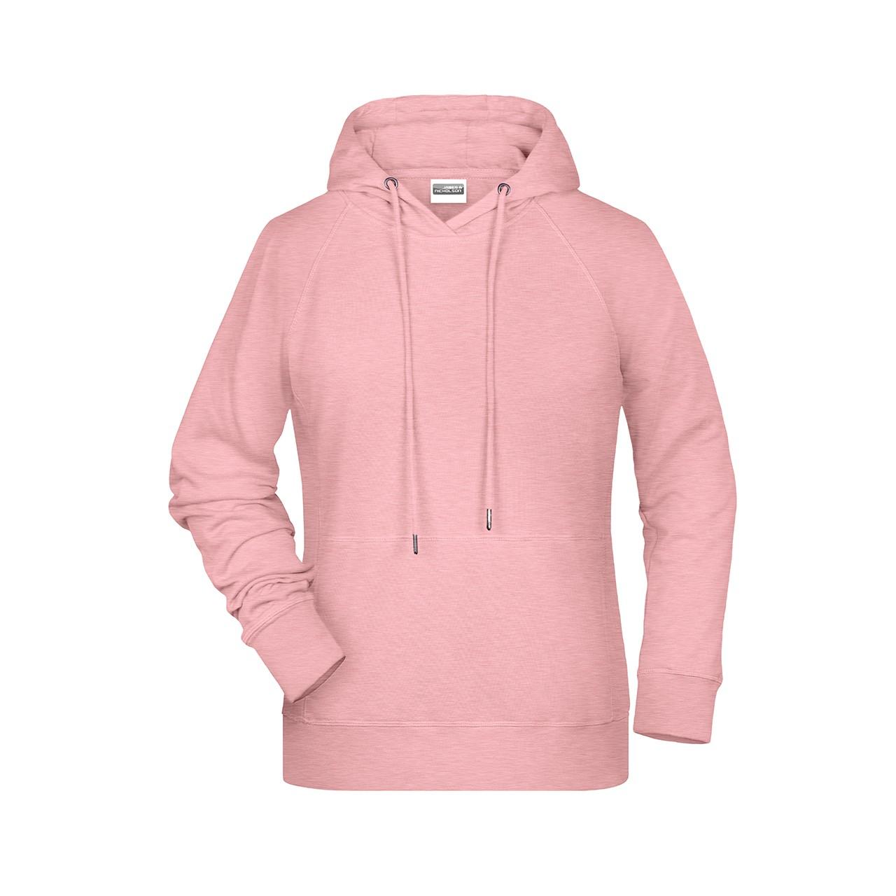 Damen Hoody Bio-Baumwolle James & Nicholson® | bedrucken, besticken, bedrucken lassen, besticken lassen, mit Logo |