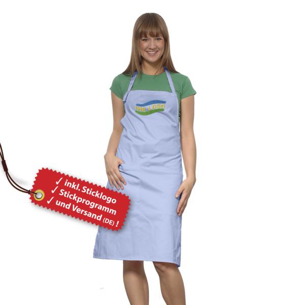 Cusine Kochschürze besticken lassen inkl. Logo Stickerei