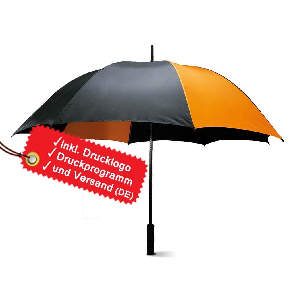 Sturmfester Regenschirm bedrucken lassen inkl. Logo KiMood® | bedrucken, besticken, bedrucken lassen, besticken lassen, mit Logo |