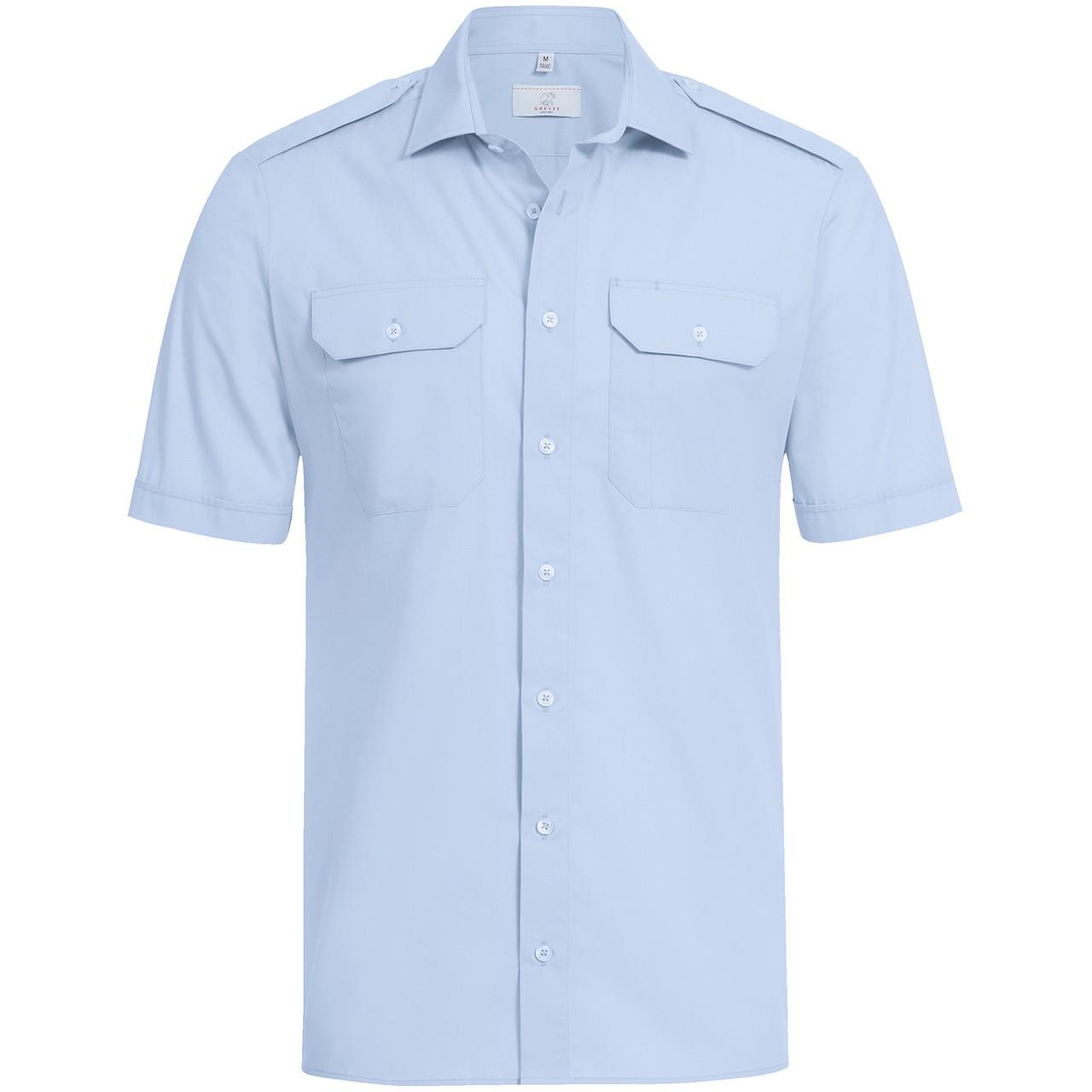 Pilothemd Kurzarm Regular Fit Greiff® | bedrucken, besticken, bedrucken lassen, besticken lassen, mit Logo |