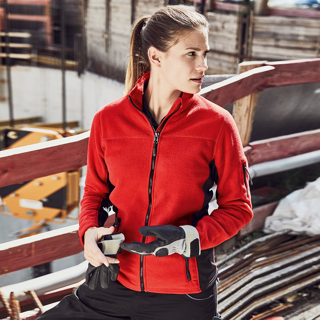 Damen Workwear Fleecejacke James & Nicholson® | bedrucken, besticken, bedrucken lassen, besticken lassen, mit Logo |