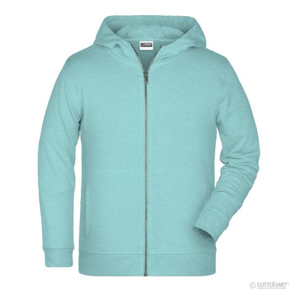 Kids sweat jacket with hood organic cotton James & Nicholson®