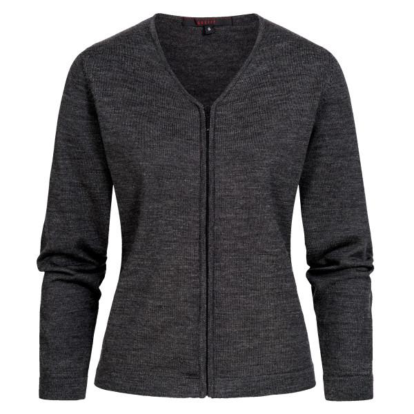 Women's Knit Cardigan with Zipper Regular Fit Greiff®