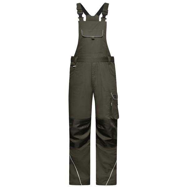 Workwear Latzhose Materialmix James & Nicholson®