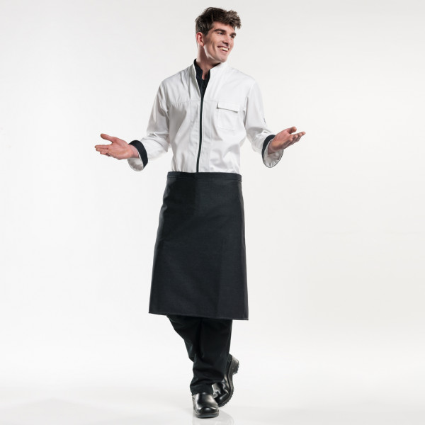 Jeans Bistroschürze Regular ohne Tasche L70 Chaud Devant® mit Firmenlogo besticken lassen