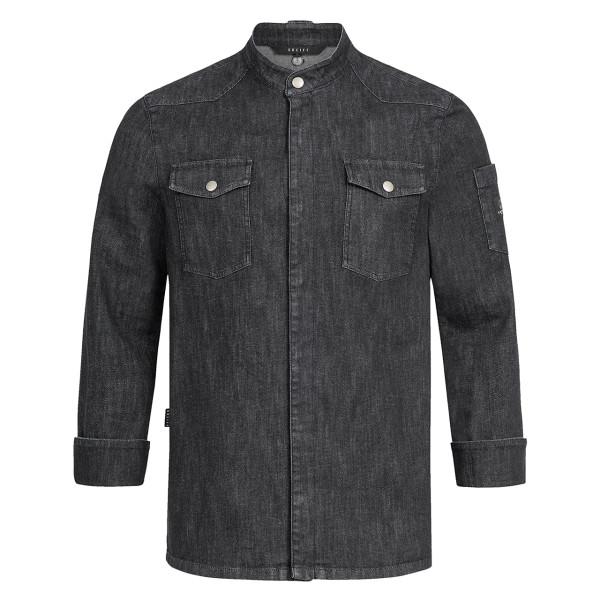 Premium Cooking Jacket Black Denim Greiff®