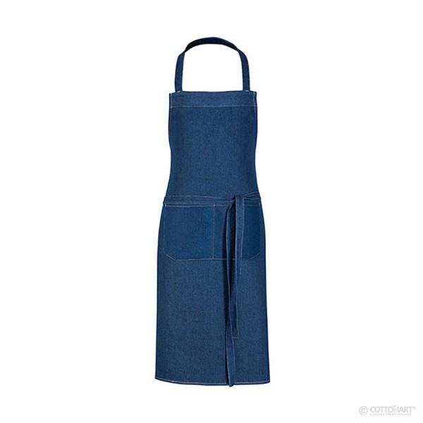 Denim jeans hobby apron with front pocket Link®