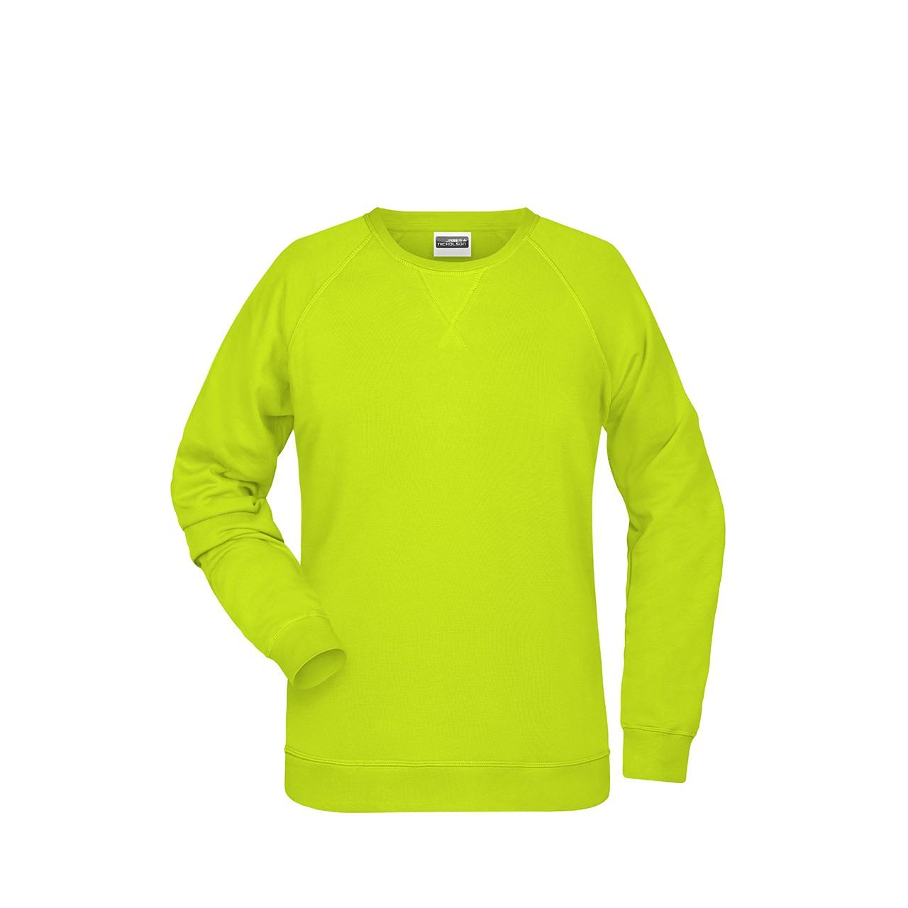 Damen Sweathshirt Bio-Baumwolle James & Nicholson® | bedrucken, besticken, bedrucken lassen, besticken lassen, mit Logo |